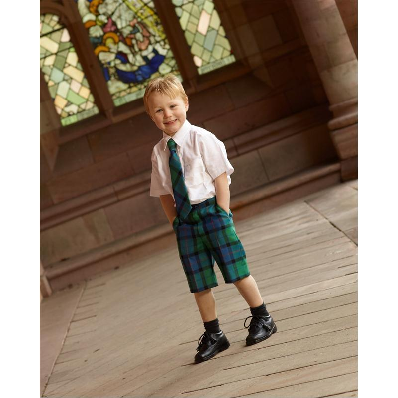 Pantalones Cortos de Ninos, en Tartan in Flower Of Scotland