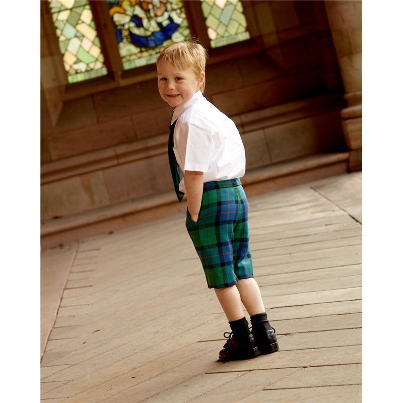 Boy's Flower of Scotland tartan shorts