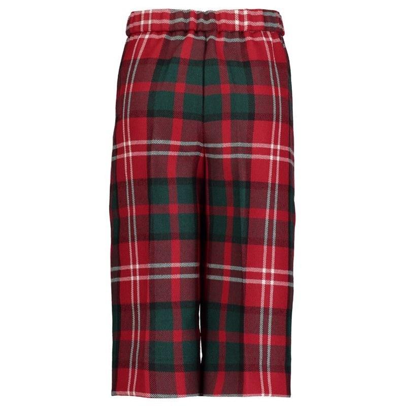 Boy's red tartan shorts