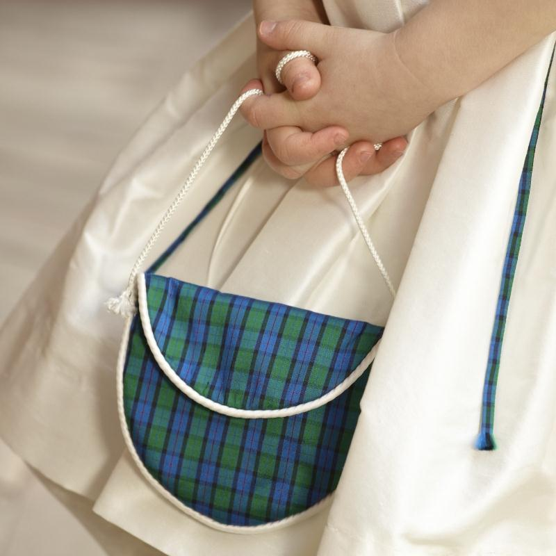 Girls Plaid Purse