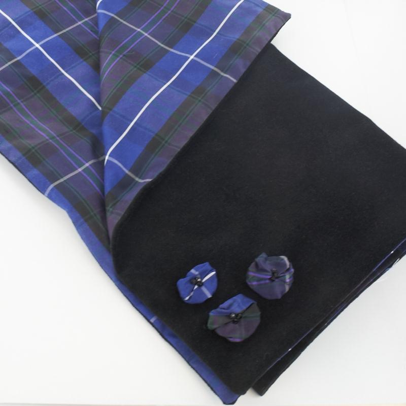 Pride of Scotland Plaid & Velvet Stole