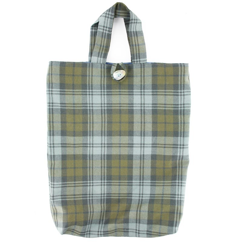 Plaid Tote Bag in Black Watch Weathered