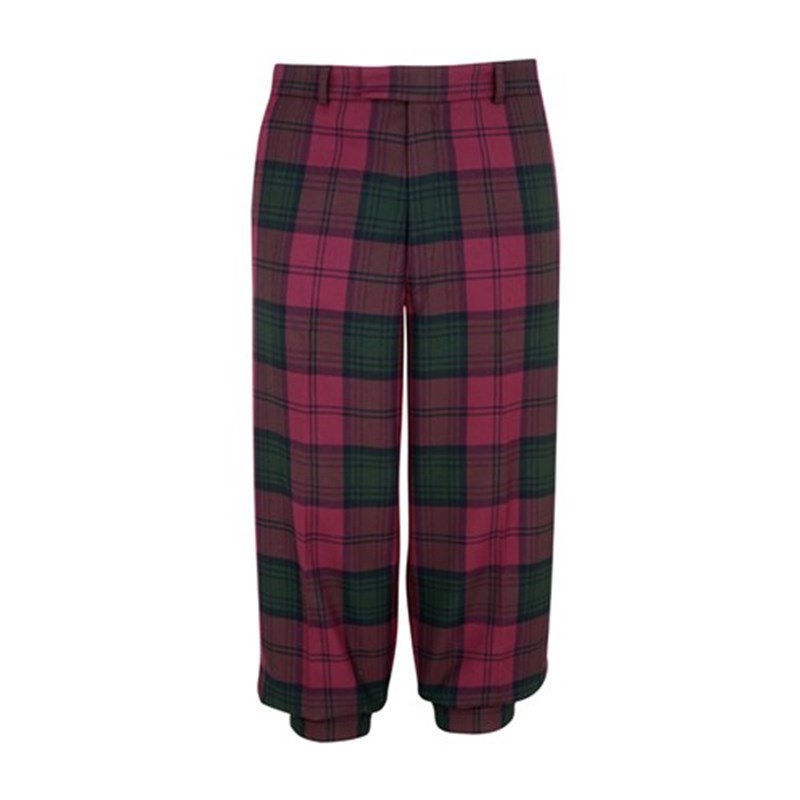 Machine Washable Plaid Golf Knickers in Lindsay Modern PolyViscose BA002T