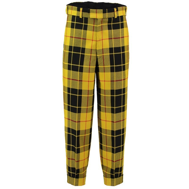 Machine Washable Plaid Golf Knickers in Macleod of Lewis PolyViscose BA282T