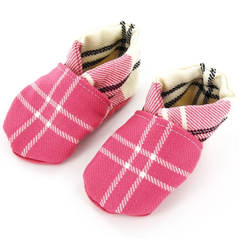 Tartan Baby Shoes in Ailsa Pink BCH001
