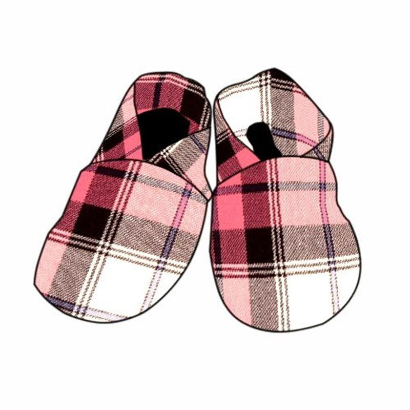 Tartan Baby Shoes in Sunart Pink BCH006