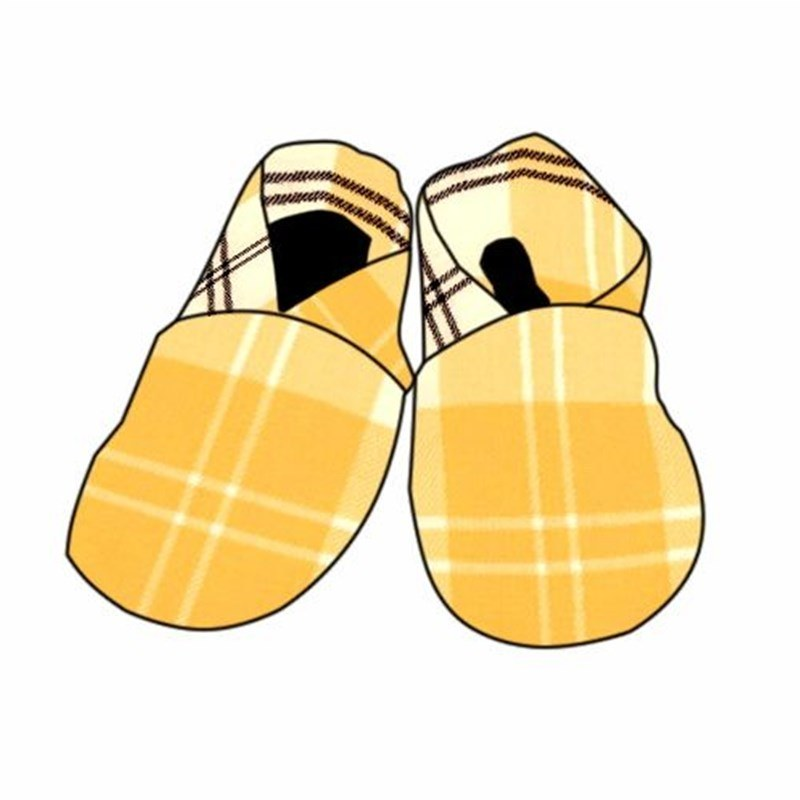 Zapatos de Bebe en Tartan in Ailsa Yellow BCH055