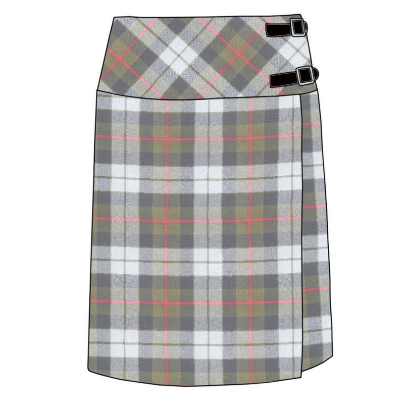 Celtic Wrap Tartan Skirt in Gunn Weathered