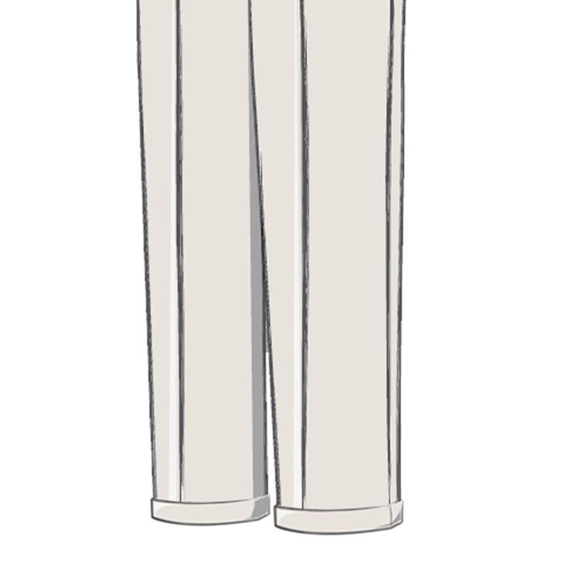Pantalons ecossais retroussé