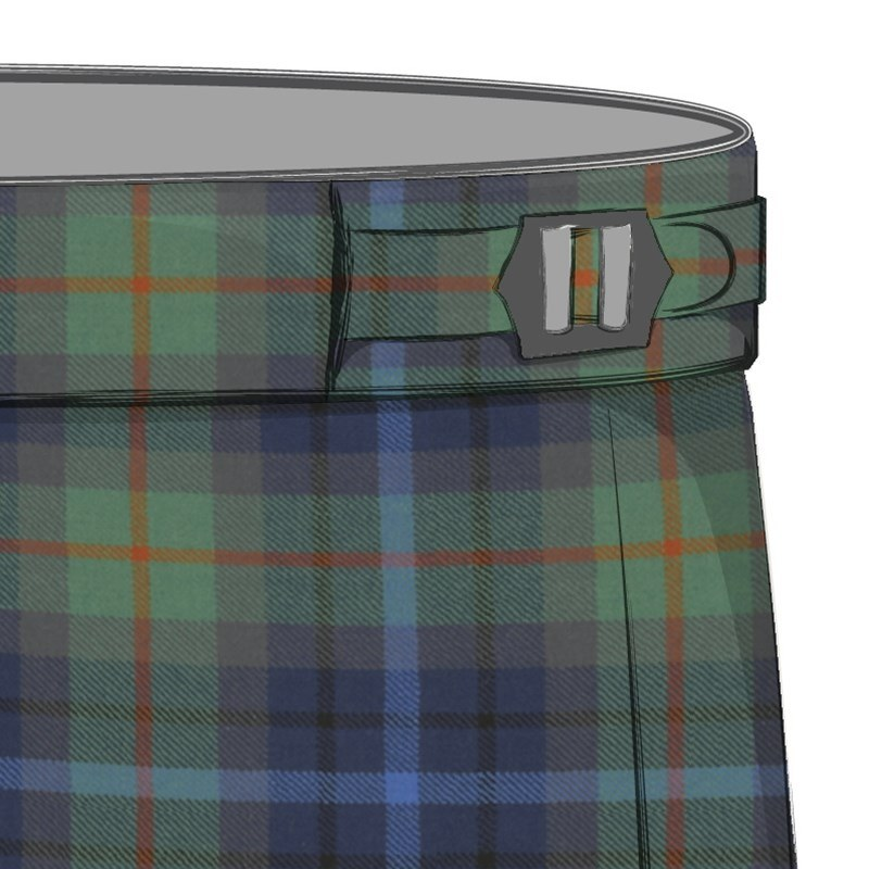 Men's Plaid Pants with Side Adjusters