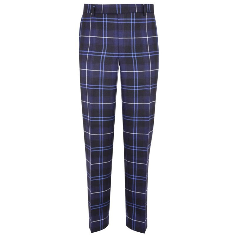 Men's Tartan Trousers - Slim Cut in Patriot Modern