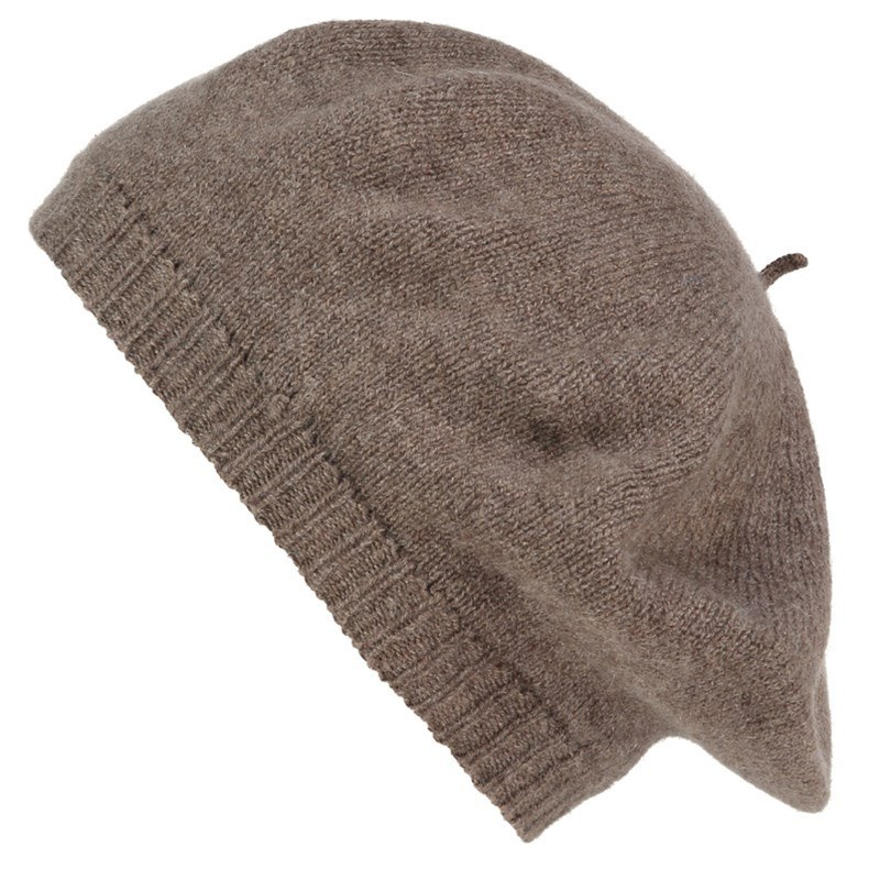 Women's Cashmere Beret in Otter