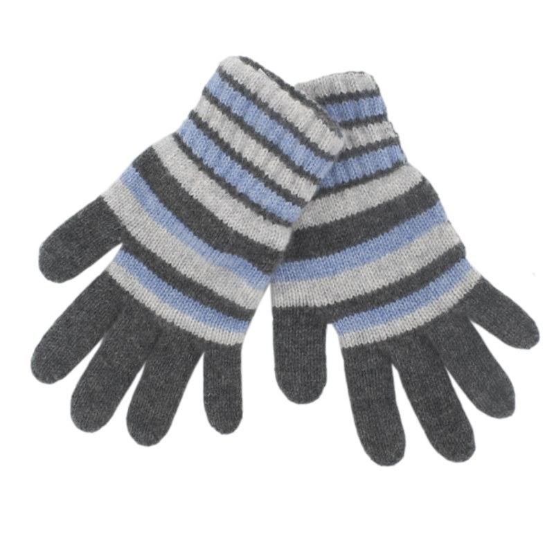 Children's Cashmere Gloves in Blue and Grey