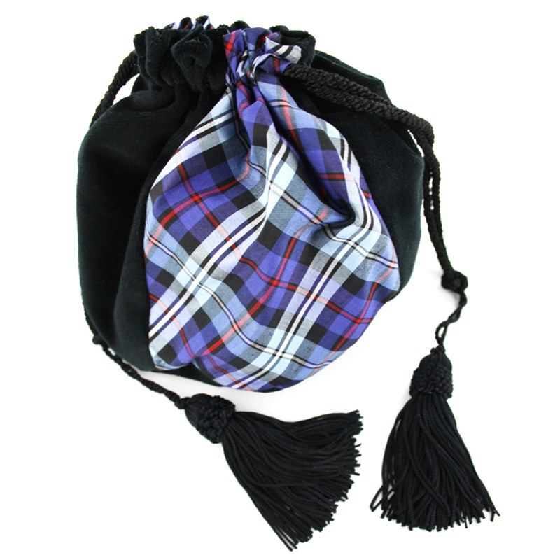 Velvet & Silk Plaid Evening Purse in Mackenzie Ancient