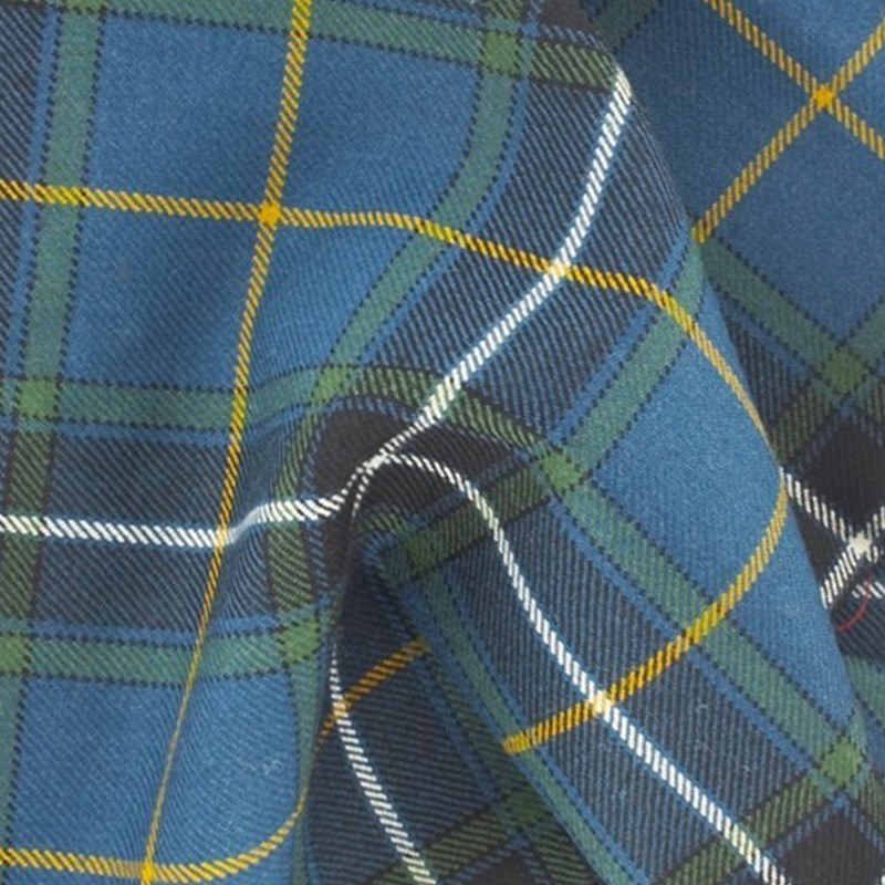 16oz Wool Breton Tartan Fabric Made To Order