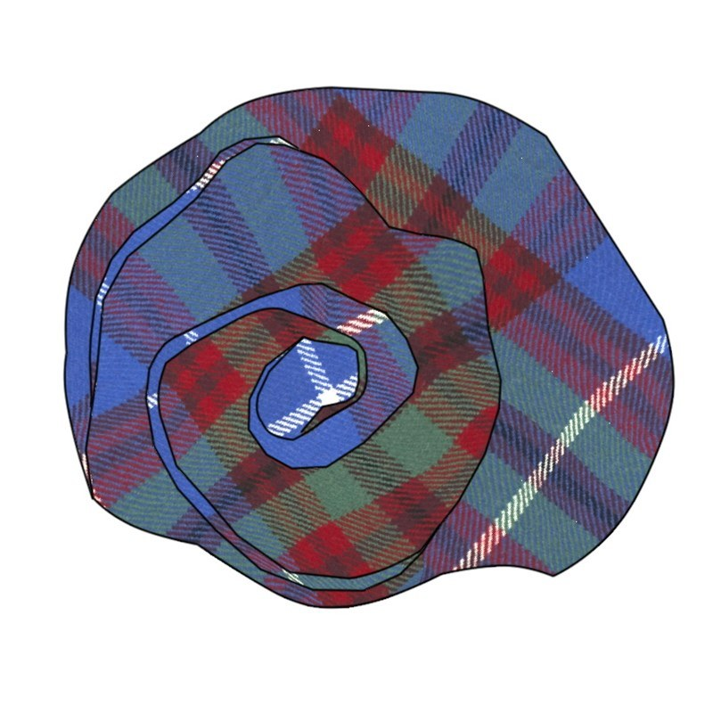 Tartan Rose Brosche aus Wolle in Edinburgh