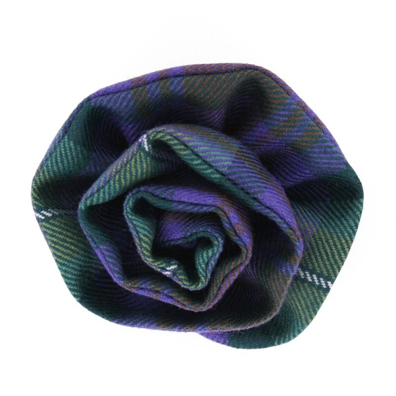 Broche de lana en tartan in Isle of Skye