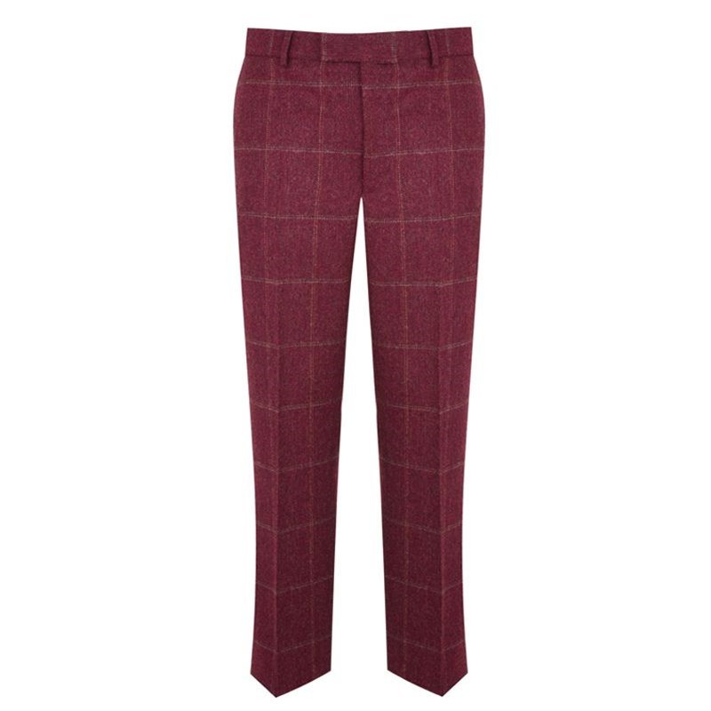 Men's Tweed Pants - Slim Cut in Cairngorm Red Kite (CGE142)