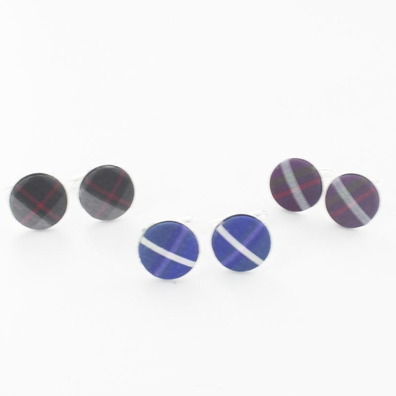 Pride of Scotland Silk Tartan Cufflinks