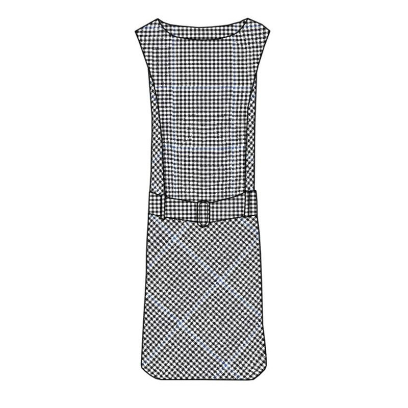 Plaid Shift Dress in Buccleuch Modern
