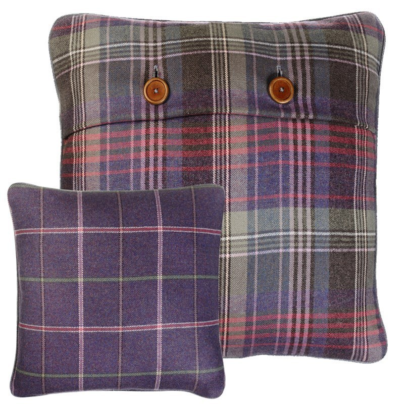 Scottish Heritage Tweed Pillow Covers in Heather