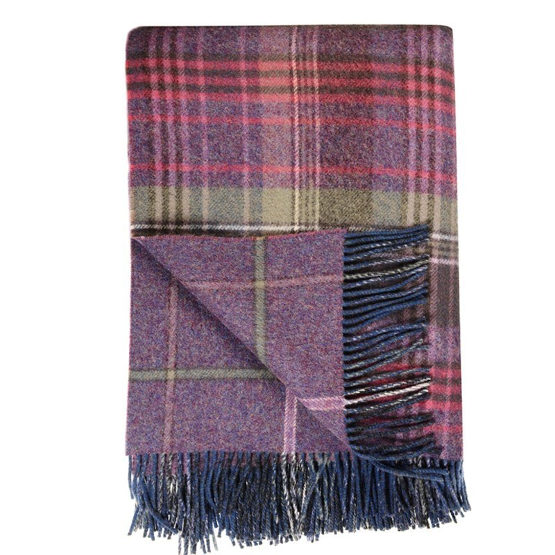 Copriletto Di Lana Scottish Heritage in Heather
