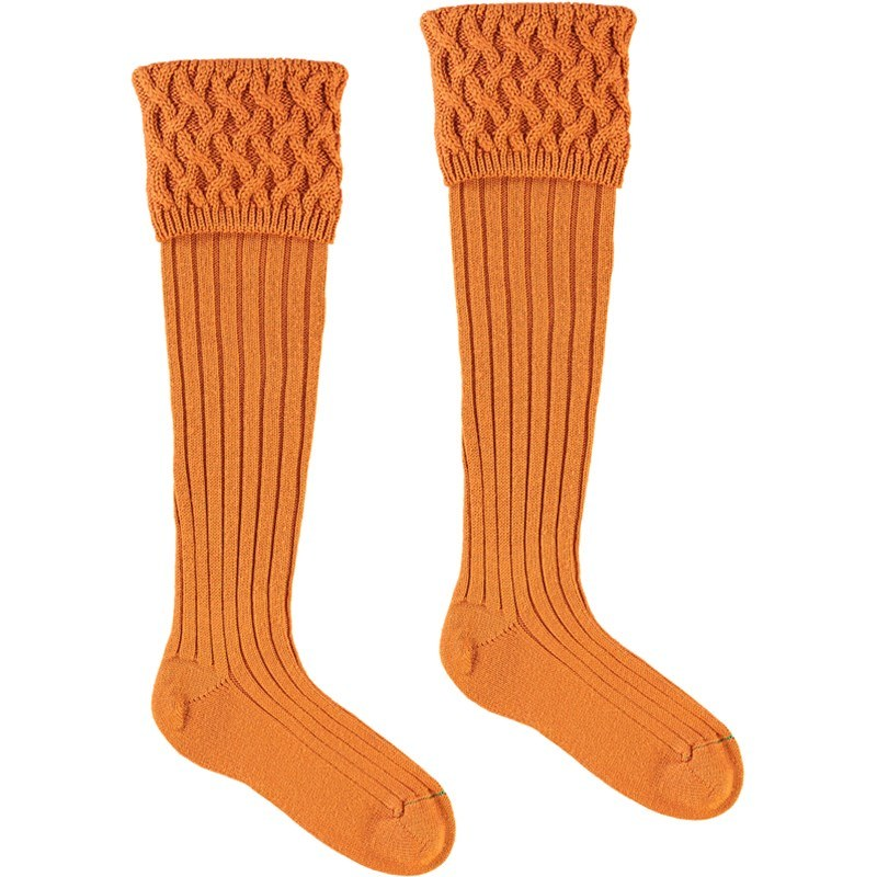 Chaussettes de luxe in Burnt Orange