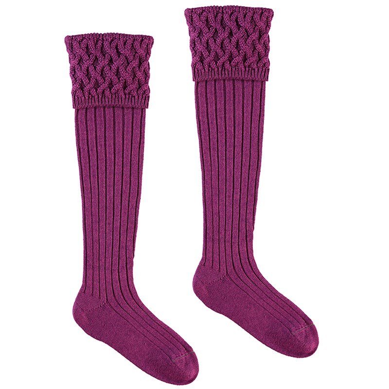Chaussettes de luxe in Bilberry