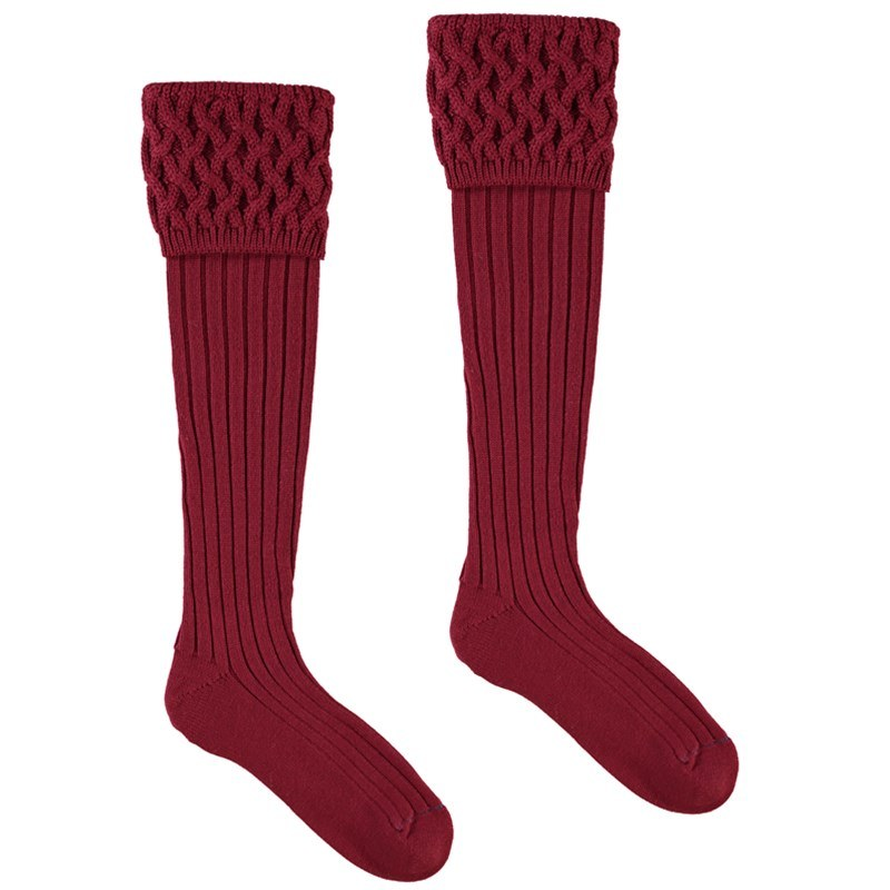 Chaussettes de luxe in Burgundy