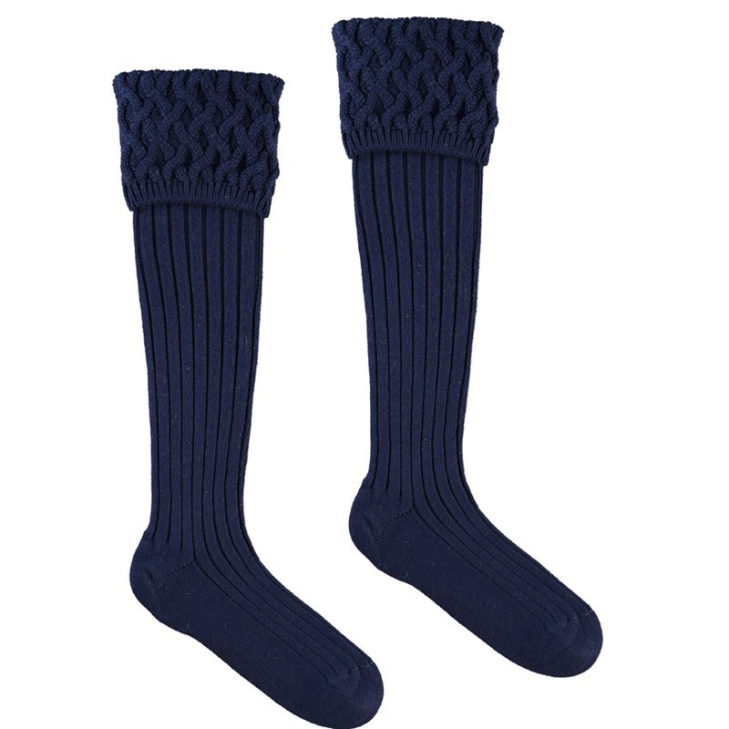 Calcetines en Merino Lujoso  in New Navy