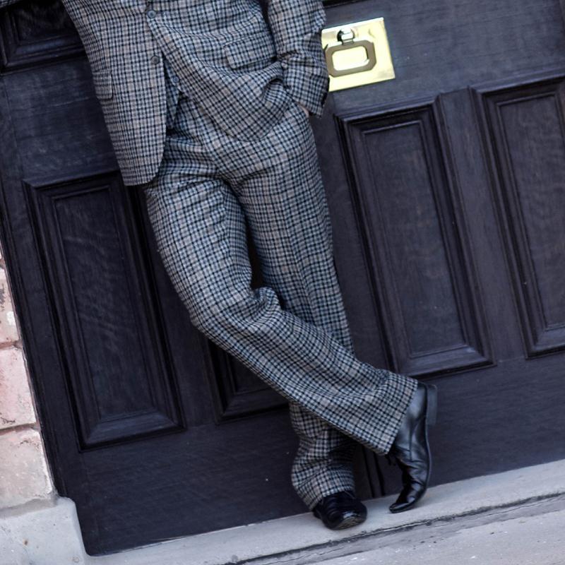 Pantalon en tweed ecossais