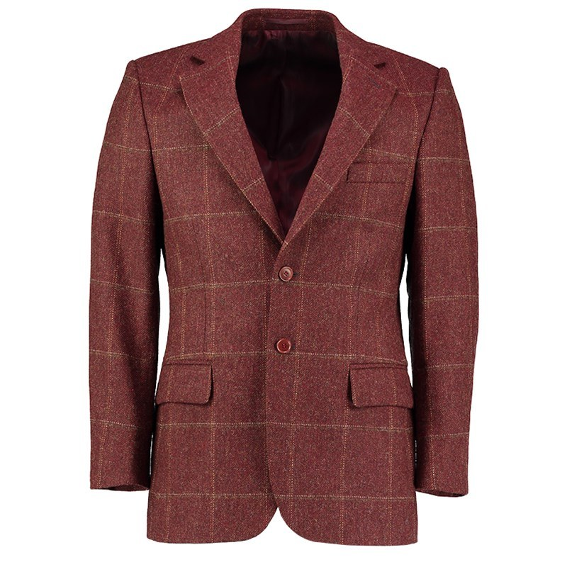 Veste en tweed ecossais in Cairngorm Red Kite (CGE142)
