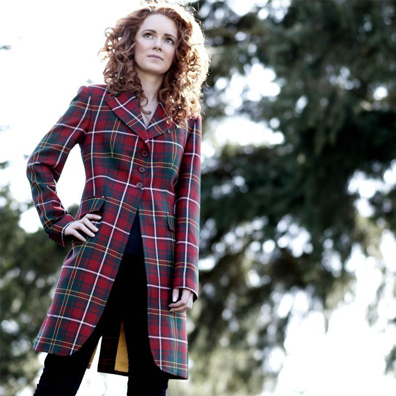 Women's Longline Plaid Jacket