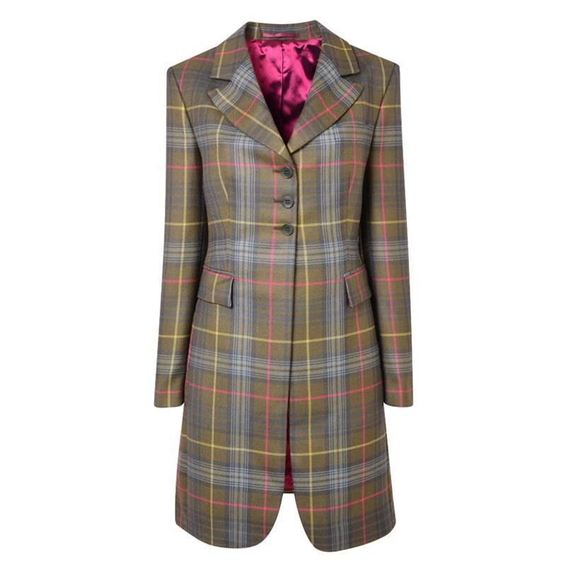 Women's Longline Plaid Jacket in Stewart Hunting Weathered