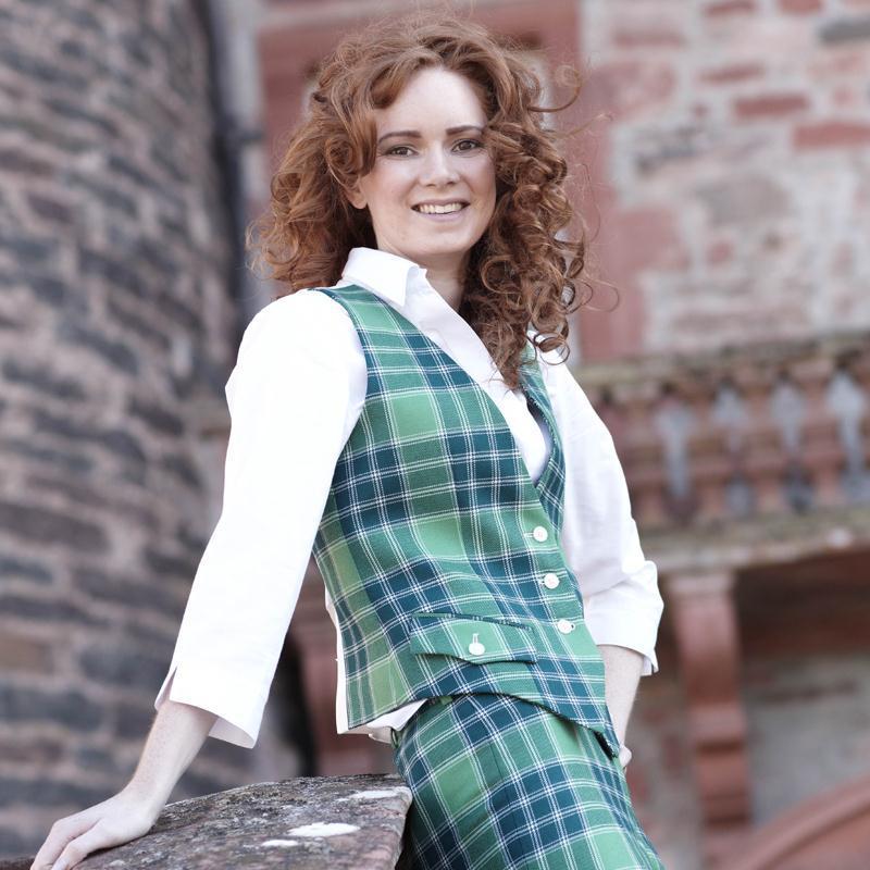 Gilet femme ecossais Gilet style garçon de café