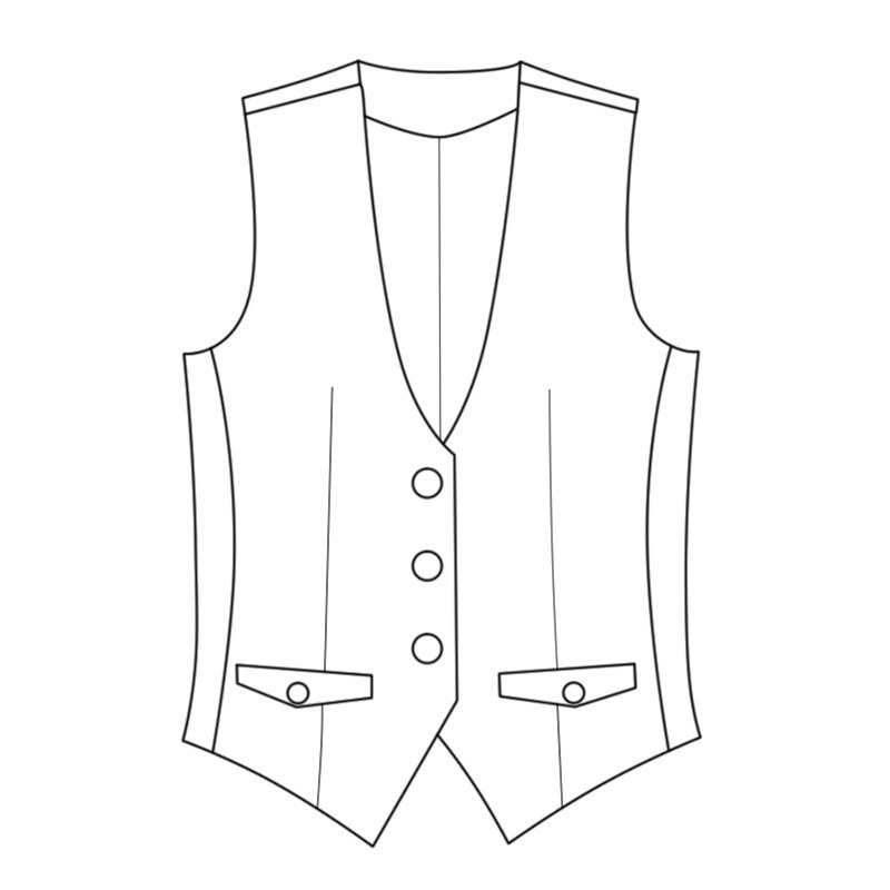 Women's Tailored Plaid Vest Made To Order