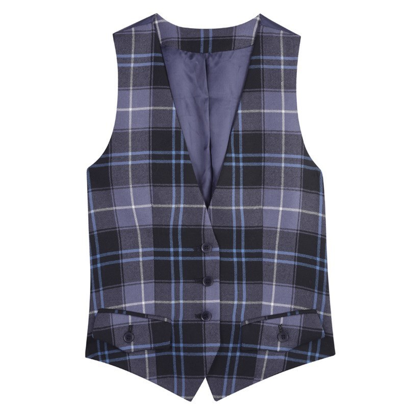 Women's Tailored Plaid Vest in Patriot Ancient