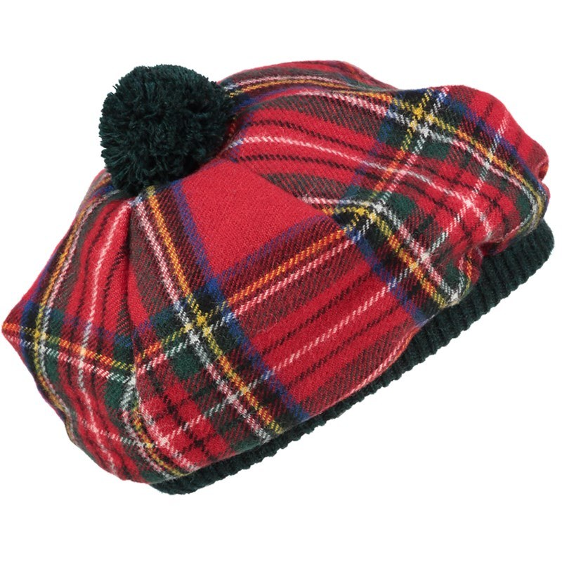 Wool Tartan Tam in Stewart Royal