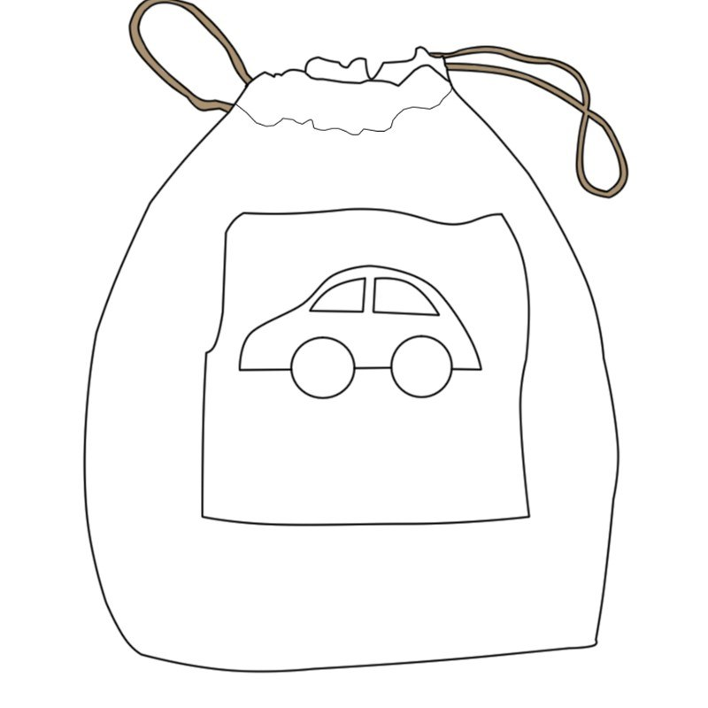 Childrens Drawstring Tartan Bag 1