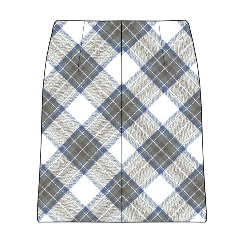 Minirock aus Schottenstoff in Stewart Blue Dress