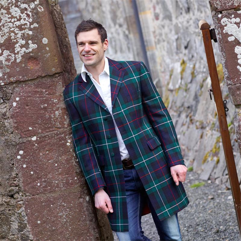 Veste longue ecossaise pour homme