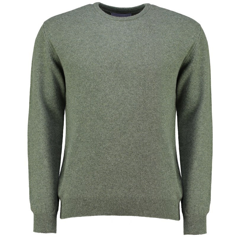 Men's Lambswool Round Neck Sweater in Landscape