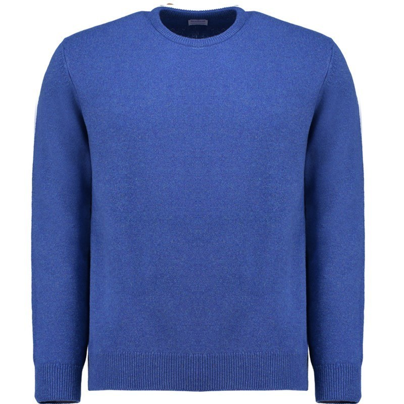 Men's Lambswool Round Neck Sweater in Persian