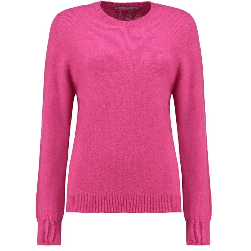 Women's Round Neck Lambswool Sweater in Damask