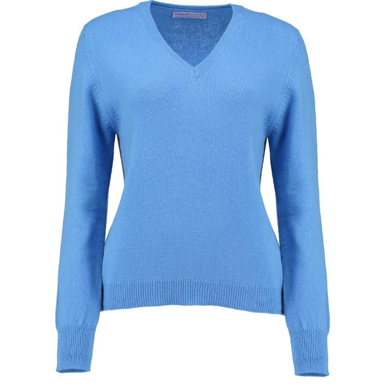 Women's Vee Neck Lambswool Sweater