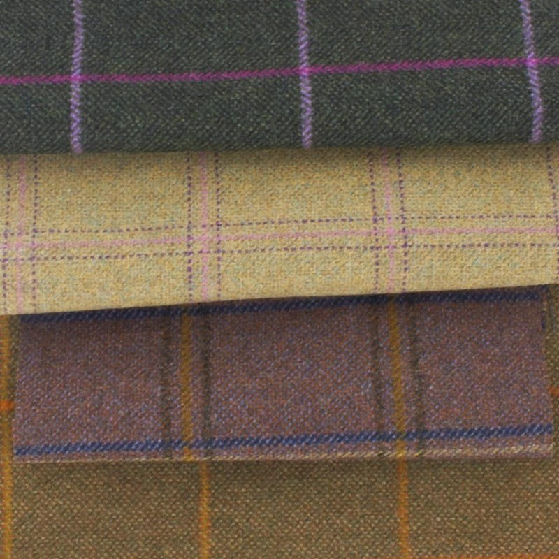 Tissu tweed léger à carreaux Made To Order