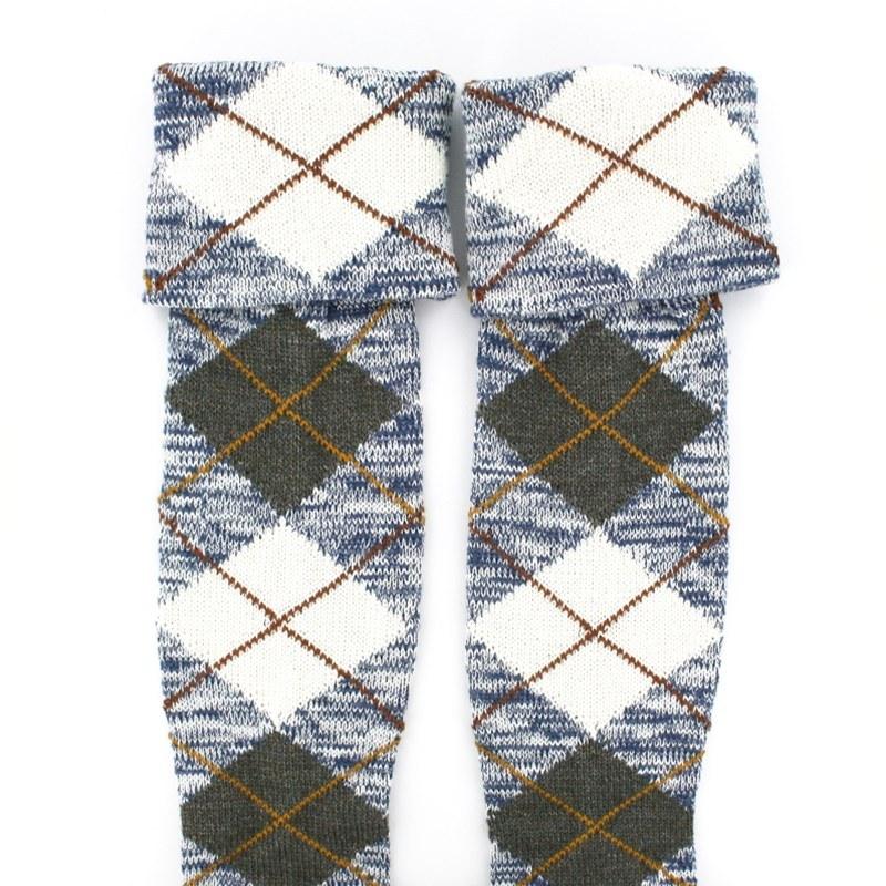 Tartan Kilt Socks/Hose (Sale) in Stewart Blue Dress