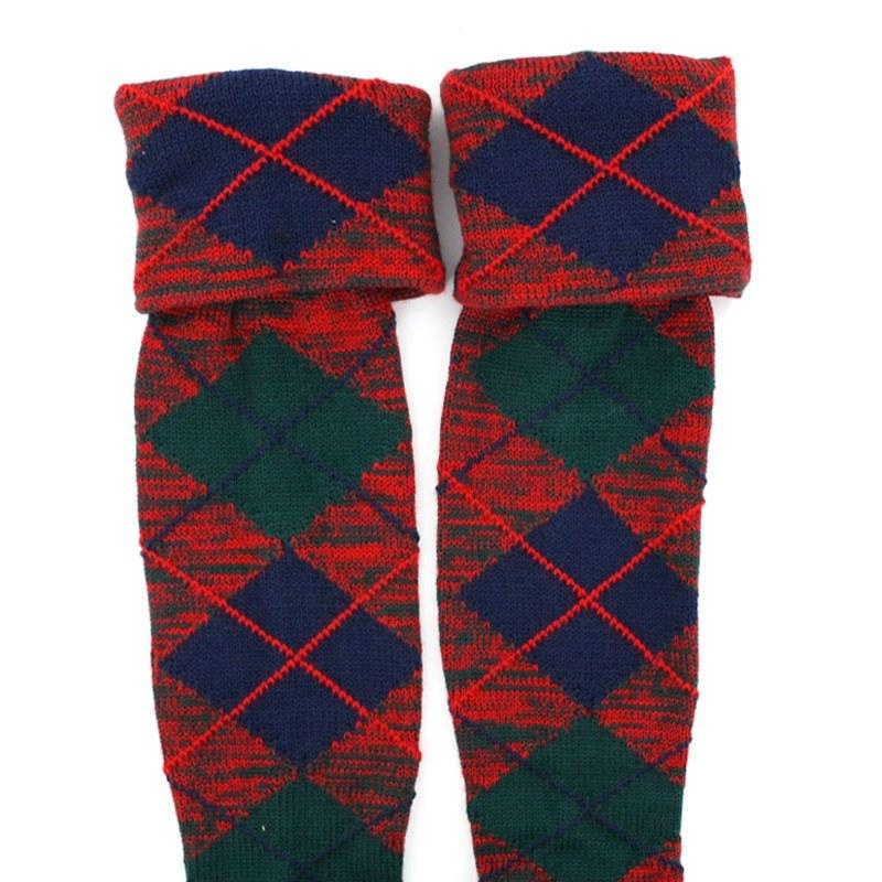 Tartan Kilt Socken (Angebot) in Robertson Red Modern