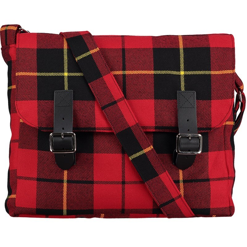 Tartan Messenger Bag in Wallace Modern