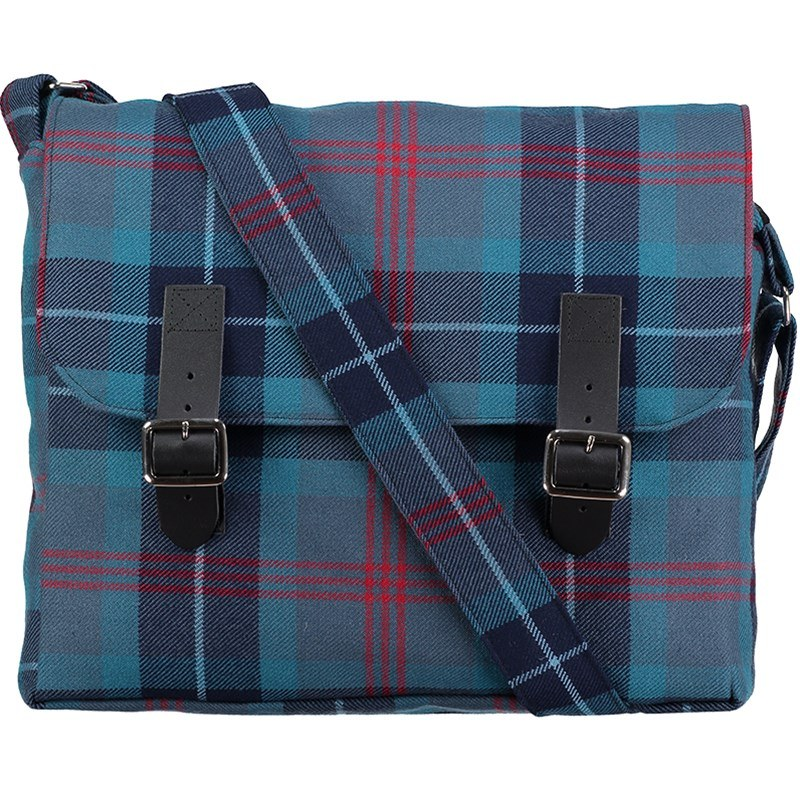 Tartan Messenger Bag in Loch Ness